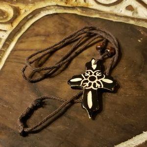 Bone Cross Necklace